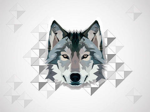 Wolf - Polygonal Digital Art Painting