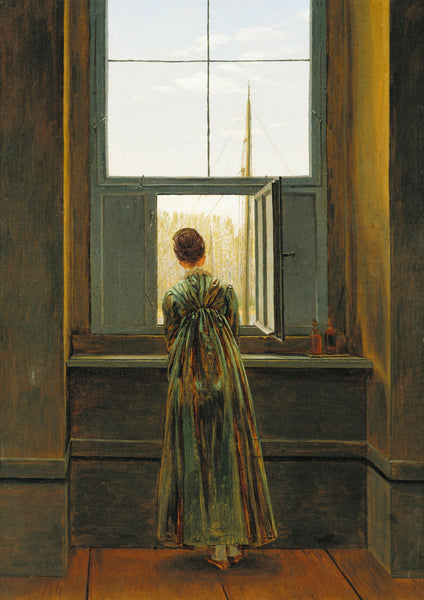Woman at a Window - Framed Prints