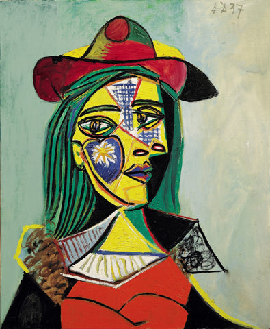 Pablo Picasso - Femme Au Chapeau Et Col En Fourrure - Woman in Hat and Fur Collar