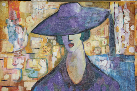 Woman In Purple Hat