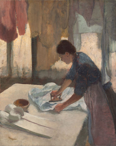 Woman Ironing - Canvas Prints