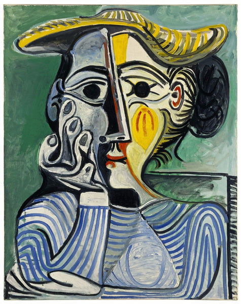 Pablo Picasso - Femme Au Chapeau Jaune -Woman with Yellow Hat - Posters