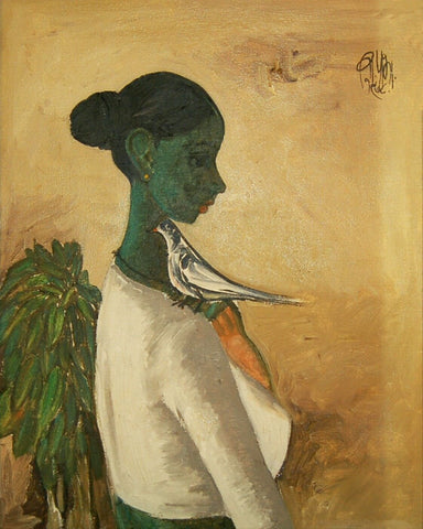 Woman With A Bird