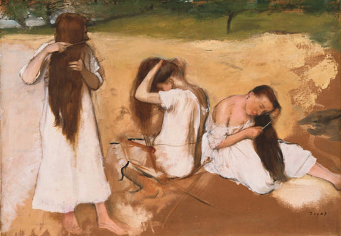 Women Combing Their Hair - Canvas Prints