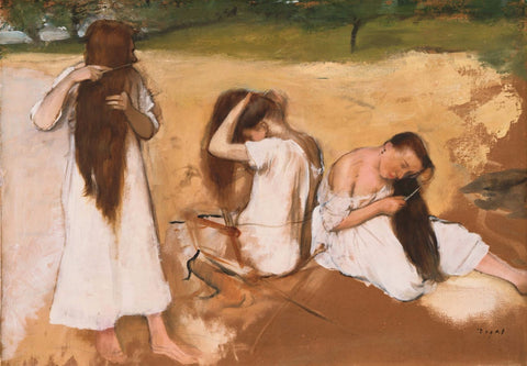 Women Combing Their Hair