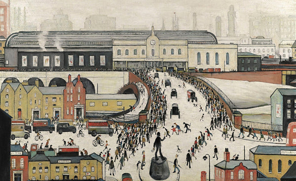 Workers Walking To Manchester Railway Station - L S Lowry
