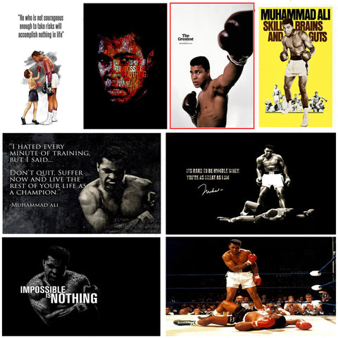 Set of 10 Best of Muhammad Ali  - Poster Paper (12 x 17 inches) each by Joel Jerry