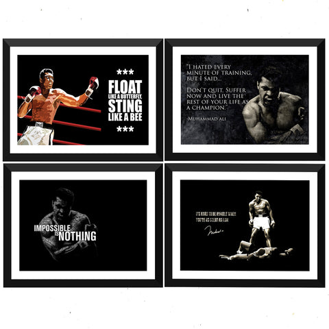 Muhammad Ali  - Set of 10 Framed Poster Paper - (12 x 17 inches)each