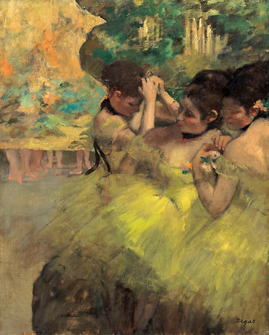 Yellow Dancers (In the Wings), 1871 by Edgar Degas