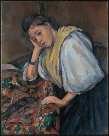 Young Italian Woman at a Table - Life Size Posters