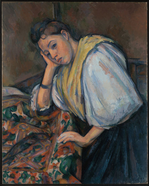 Young Italian Woman at a Table - Canvas Prints