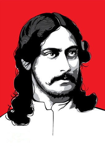 Young Rabindranath Tagore - Digital Art - Tallenge Motivational Collection
