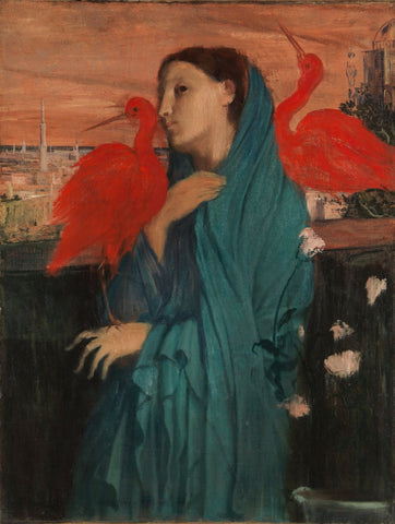 Young Woman With Ibis - Life Size Posters