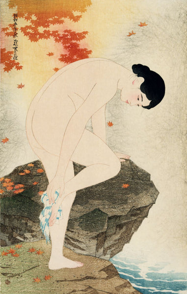 Yu no ka (The fragrance of a bath) - Canvas Prints