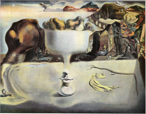 Apparition of a Face and Fruit Dish On a Beach by Salvador Dali