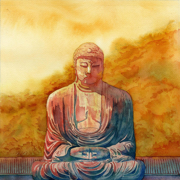 Artwork of Buddha Kamakura by Aditi Musunur
