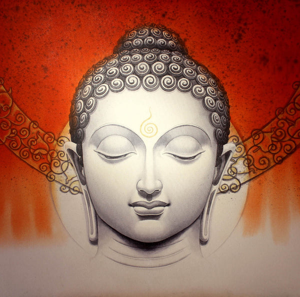 Artwork of Serene Buddha by Aditi Musunur