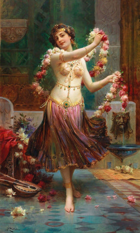 Belly Dancer (Bauchtänzerin) - Hans Zatzka by Hans Zatzka