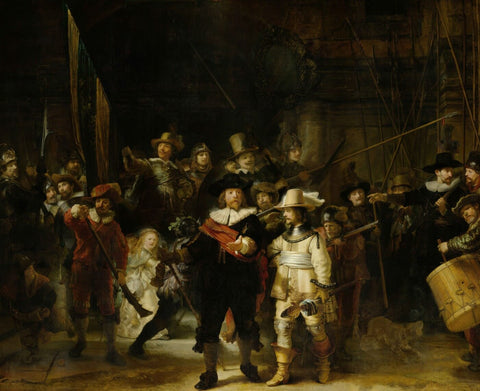 The Night Watch - (De Nachtwacht) by Rembrandt van Rijn