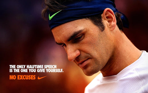 Spirit Of Sports - The Only Halftime Speech Is The One You Give Yourself - Roger Federer - Legend Of Tennis by Christopher Noel