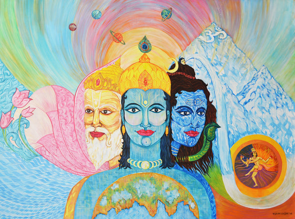 Tri-Murti by Rajesh Gajjar Artist | Tallenge Store | Buy Posters, Framed Prints & Canvas Prints
