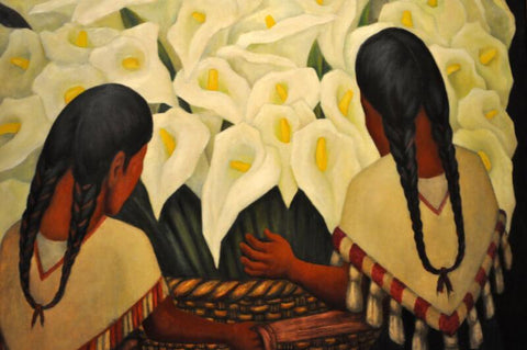 Untitled-(Girl With The Calla Lilies) - Canvas Prints