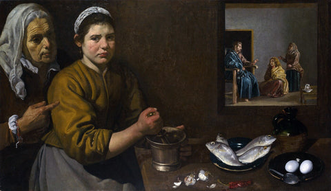 Cristo en casa de Marta y María - (Christ in the House of Martha and Mary) by Diego Velazquez