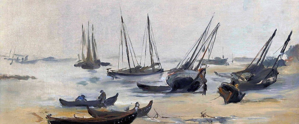 At Low Tide (La Plage A Marée Basse) - Edouard Manet by Édouard Manet | Buy Posters, Frames, Canvas  & Digital Art Prints