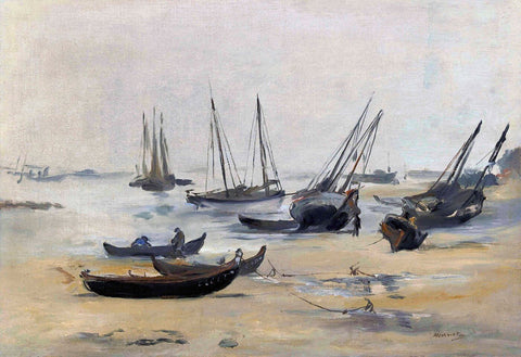 At Low Tide (La Plage A Marée Basse) - Edouard Manet