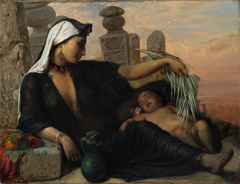 A Fallah Woman With Her Child