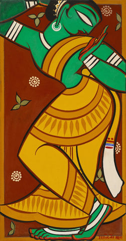 Dancing Gopi by Jamini Roy