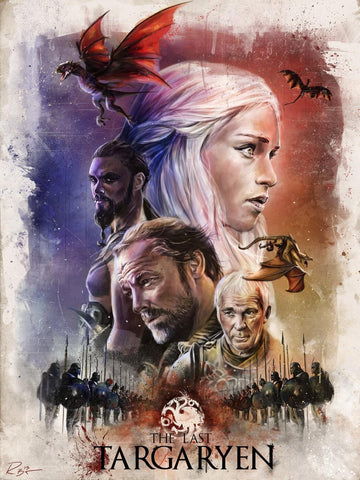 Art From Game Of Thrones - The Last Targaryen - Canvas Prints