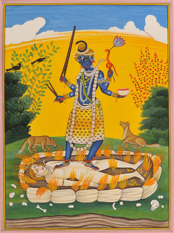 Indian Miniature Art - Divine Mother Kali Says the Mahanirvana Tantra