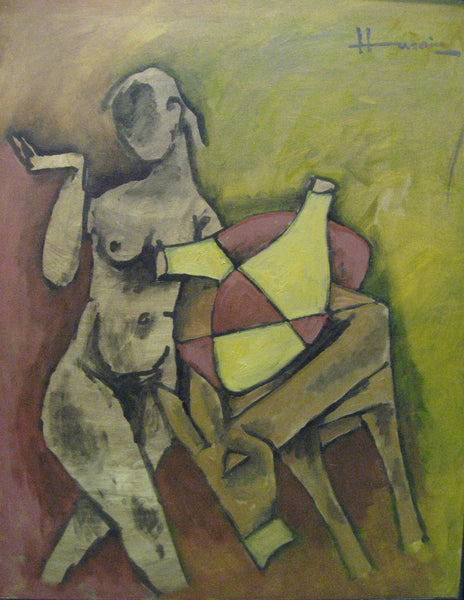 Artwork Prints of 88 Husains In Oils - Art Prints by M F Husain