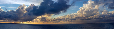 Clouds Over The Sea Panorama