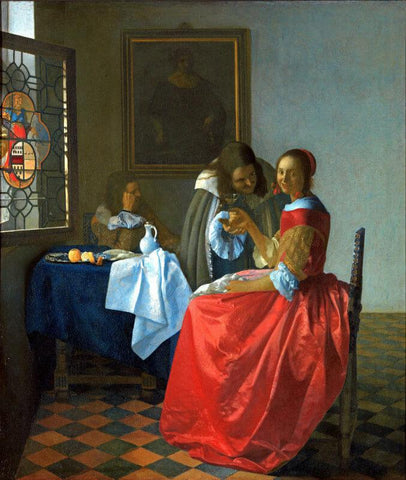 The Girl With The Wine Glass by Johannes Vermeer