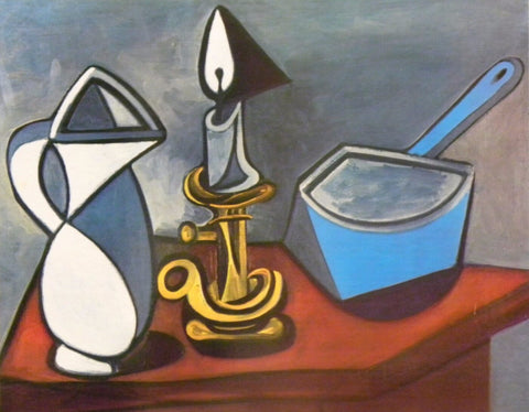 Still Life With Candle - Nature morte avec bougie by Pablo Picasso ...
