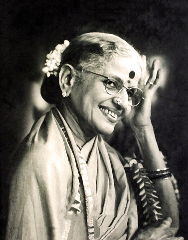 Black And White Portrait Of M. S. Subbulakshmi