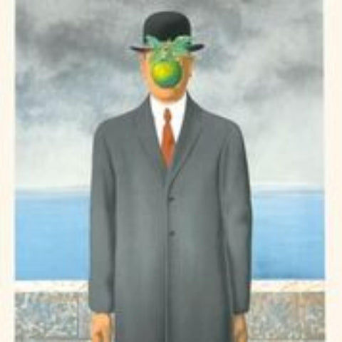 Man With An Apple Painting - Rene Magritte