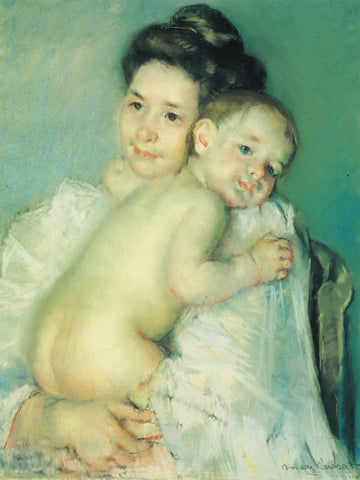 Young Thomas And His Mother by Mary Stevenson Cassatt
