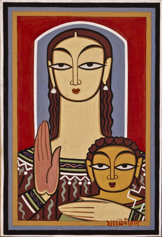 Mary and Jesus by Jamini Roy