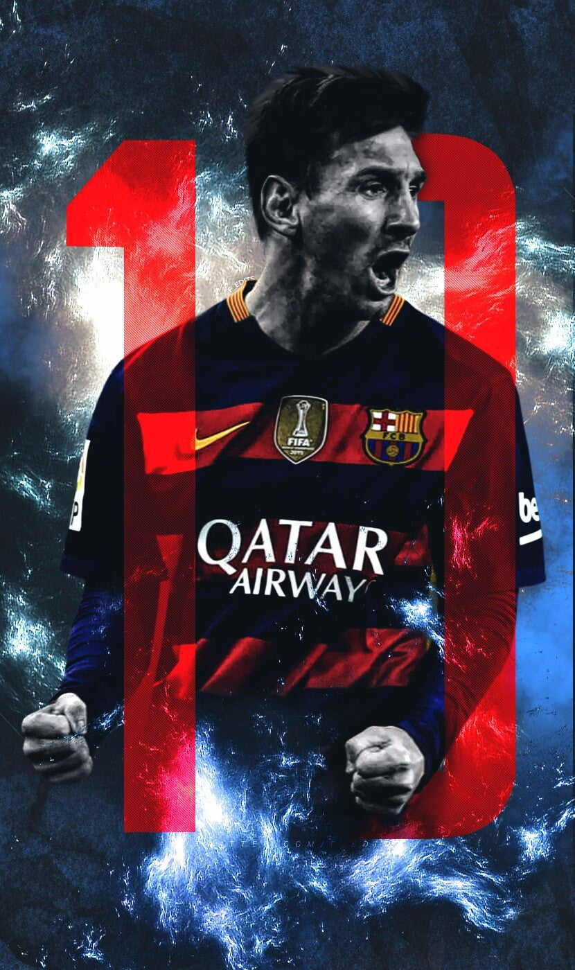 spirit of sports fc barcelona lionel messi large art prints by