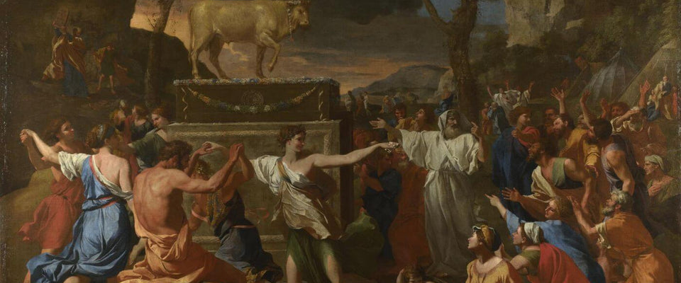 The Adoration of the Golden Calf - Nicolas Poussin by Nicolas Poussin | Buy Posters, Frames, Canvas  & Digital Art Prints