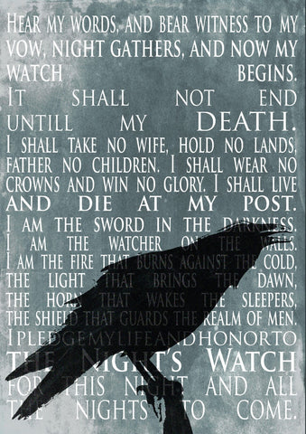Art From Game Of Thrones - Nights Watch