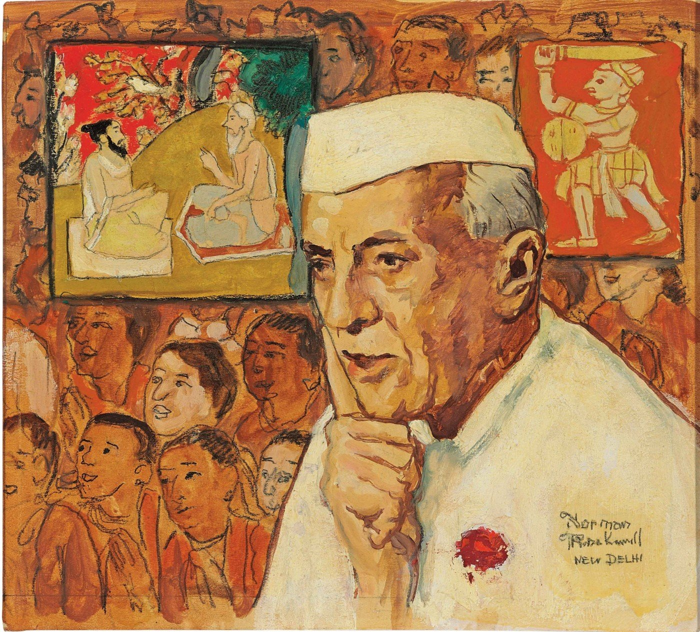 Jawaharlal Nehru - Art Prints by Norman Rockwell | Buy Posters ...