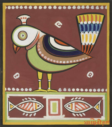 Parrot by Jamini Roy