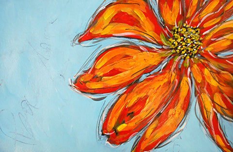 Best Valentines Day Gift - Flower Painting by Sina Irani