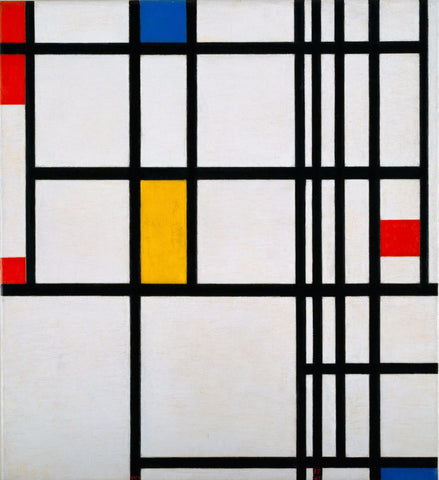Mondrian, Composition With Red, Yellow, And Blue by Piet Mondrian