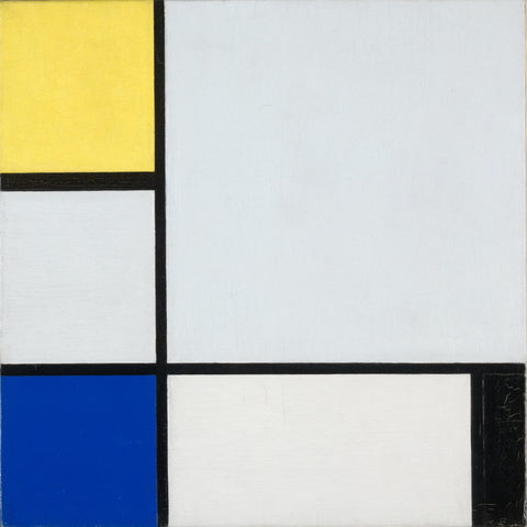 Mondrian, Composition With Yellow, Blue, And Blck