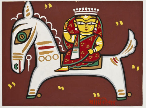 Queen of Jhansi by Jamini Roy